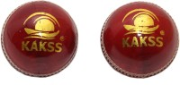 Kakss Turf Cricket Ball -   Size: Full Size,  Diameter: 21 Cm (Pack Of 2, Red)