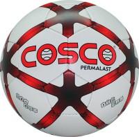 Cosco Permalast Football -   Size: 5,  Diameter: 21 Cm (Pack Of 1, White)