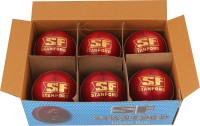 SF Match Special Cricket Ball - Size: 5.5, Diameter: 4.5 Cm (Pack Of 6, Red)