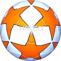 Hikco Star Orange Football -   Size: 5,  Diameter: 22 Cm - Pack Of 1, White, Orange, Black