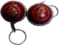 APG Keyring Cricket Ball -   Size: Small,  Diameter: 2.5 Cm (Pack Of 2, Red)
