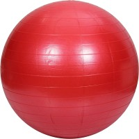SCS Exercise Ball With Foot Pump Gym Ball -   Size: 75 Cm,  Diameter: 75 Cm (Pack Of 2, Red)