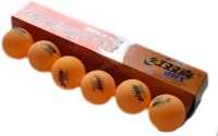 DHS 3 Star Ping Pong Ball -   Size: Standard,  Diameter: 4 Cm (Pack Of 12, Orange)
