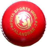 Priya Sports 2833A Cricket Ball - Size: 5, Diameter: 2.24 Cm (Pack Of 1, Red)