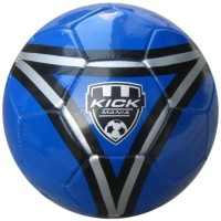 Speed Up Kick Mania Leatherite Football -   Size: 5,  Diameter: 30 Cm (Pack Of 1, Blue)