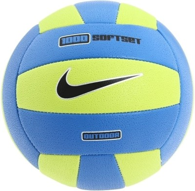 Nike 1000 Soft Set Volleyball Pack of 1, Bright Cactus, Photo Blue