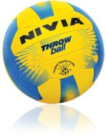 Nivia Plain Throw Ball - Size: 5, Diameter: 2.5 Cm (Pack Of 1, Yellow, Blue)