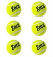 Guru Cricket Tennis Ball -   Size: Standard,  Diameter: 6.5 Cm (Pack Of 6, Yellow)