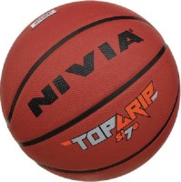 Nivia Top Grip (size - 7) Basketball -   Size: 7,  Diameter: 23 Cm (Pack Of 1, Maroon)