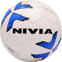 Nivia Shining Star Football -   Size: 5,  Diameter: 22 Cm (Pack Of 1, White, Blue)