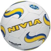 Nivia Classic Football - Size: 5, Diameter: 22 Cm (Pack Of 1, White, Yellow)