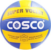 Cosco Super Volleyball -   Size: 4,  Diameter: 25.6 Cm (Pack Of 1, Multicolor)