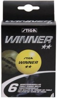 Stiga Winner Ping Pong Ball -   Size: 40 Mm,  Diameter: 4 Cm (Pack Of 6, Yellow)