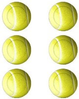 Livestrong Super Tennis Ball -   Size: 6,  Diameter: 6.5 Cm (Pack Of 6, Yellow)