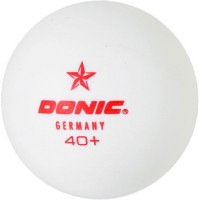 Donic 1 Star Ping Pong Ball -   Size: 3,  Diameter: 3.9 Cm (Pack Of 6, White)