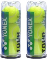 Yonex Tour Tennis Ball -   Size: 2.5,  Diameter: 2.5 Cm (Pack Of 6, Yellow)
