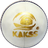 Kakss Leather Cricket Ball -   Size: Full Size,  Diameter: 21 Cm (Pack Of 1, White)