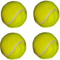 VSM Super Class Tennis Ball -   Size: 3,  Diameter: 2.5 Cm (Pack Of 4, Yellow)