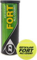 Dunlop Fort Tennis Ball - Size: 0, Diameter: 2.5 Cm (Pack Of 3, Yellow)