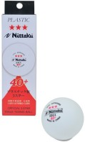 Nittaku 3 Star Plastic Ping Pong Ball -   Size: 4 Cm,  Diameter: 4 Cm (Pack Of 3, White)