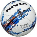 Nivia Trainer Football (Fb-264) Assorted Football -   Size: 5,  Diameter: 15 Cm - Pack Of 1, White, Blue