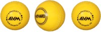 AVM Windball-6 Cricket Ball -   Size: Standard,  Diameter: 6.5 Cm (Pack Of 3, Yellow)