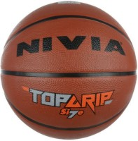 NIVIA Top Grip 7 Basketball -   Size: 7,  Diameter: 2.5 Cm (Pack Of 1, Brown)