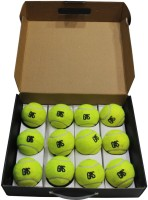 GAS Jayco Tennis Ball -   Size: 5,  Diameter: 6.5 Cm (Pack Of 12, Yellow)