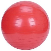 Krazy Fitness Pro Gym Ball -   Size: 3,  Diameter: 55 Cm (Pack Of 1, Red)