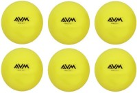 AVM HARD SHOT WINDALL Cricket Ball -   Size: Standard,  Diameter: 6.5 Cm (Pack Of 6, Yellow)