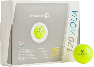 Inesis Aqua 120 Golf Ball -   Size: Standard,  Diameter: 4.27 Cm (Pack Of 12, Yellow)