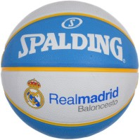 Spalding Euro Real Madrid Basketball -   Size: 7,  Diameter: 30 Cm (Pack Of 1, White, Blue)