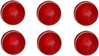 VSM Leather Four Piece Cricket Ball -   Size: 3,  Diameter: 2.5 Cm (Pack Of 6, Red)