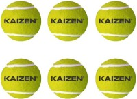 Kaizen Gold Light Weight Cricket Ball -   Size: 9.6,  Diameter: 7.3 Cm (Pack Of 6, Yellow)