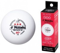 Nittaku Official 3 Star Premium 40 + Ping Pong Ball -   Size: 4,  Diameter: 4 Cm (Pack Of 1, White)