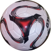 Hikco Red World Football -   Size: 5,  Diameter: 24 Cm (Pack Of 1, Red)