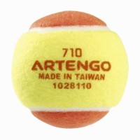 Artengo 710 B Tennis Ball -   Size: Standard,  Diameter: 6.4 Cm (Pack Of 1, Yellow, Orange)