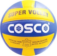 Cosco Super Volleyball -   Size: 4,  Diameter: 24 Cm (Pack Of 1, Multicolor)
