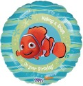 Anagram Finding Nemo Happy Birthday  18 Inches Printed Balloon - Multicolor, Pack Of 1