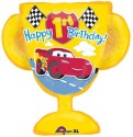 Anagram Cars 1st Birthday Trophy   Supershape Printed Balloon - Multicolor, Pack Of 1