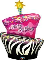 Qualatex Birthday Funky Zebra Stripe Cake 41