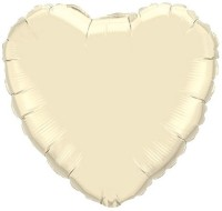 Anagram Metallic Pearl Ivory Solid Balloon (White, Pack Of 1)