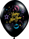 Anagram Large Shape - Happy New Year Champagne Printed Balloon - Multicolor, Pack Of 1