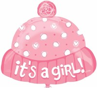Anagram It'S A Girl Hat Printed Balloon (Multicolor, Pack Of 1)