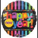 """Anagram Bright New Year 18"""" Printed Balloon - Multicolor, Pack Of 1"""