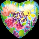 Anagram Happy Birthday Mom 18 Inches Printed Balloon - Multicolor, Pack Of 1