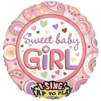 Anagram Sweet Baby Girl Printed Balloon (Multicolor, Pack Of 1)