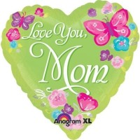 Anagram Love You Mom Printed Balloon (Multicolor, Pack Of 1)