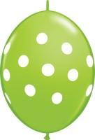 Qualatex Big Polka Dots Printed Balloon (Green, Pack Of 1)