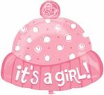 Anagram It's A Girl Hat Foil
